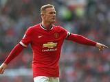 Wayne Rooney of Manchester United gestures during the Barclays Premier League match between