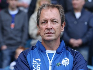 Stuart Gray, the Sheffield Wednesday manager, looks on during the Sky Bet Championship match between Sheffield Wednesday and Nottingham Forest at Hillsborough Stadium on August 30, 2014