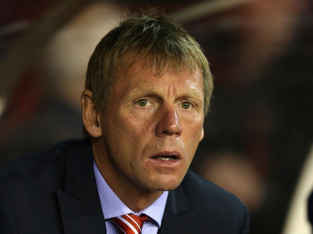 Stuart Pearce, the Nottingham Forest manager looks on during the Sky Bet Championship match between Nottingham Forest and Fulham at the City Ground on September 17, 2014