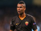 Ashley Cole of AS Roma looks on during the UEFA Champions League Group E match between Manchester City FC and AS Roma on September 30, 2014