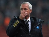 Alan Pardew manager of Newcastle United looks on during the Barclays Premier League match between Stoke City and Newcastle United at Britannia Stadium on September 29, 2014