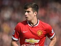 Paddy McNair of Manchester United during the Barclays Premier League match between Manchester United and Everton at Old Trafford on October 5, 2014