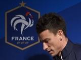 France's defender Laurent Koscielny arrives for a press conference in Clairefontaine-en-Yvelines on October 7, 2014