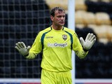 Roy Carroll of Notts County in action during the pre-season friendly match against Osasuna at Meadow Lane on August 1, 2014