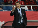 Slavisa Jokanovic, coach of Muangthong United, looks on during the AFC Champions League Group F match between Urawa Red Diamonds and Muangthong United at Saitama Stadium on March 12, 2013