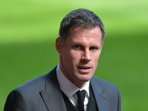 Retired Liverpool football club player Jamie Carragher arrives for a memorial service to mark the 25th anniversary of the Hillsborough Disaster at Anfield Stadium on April 15, 2014