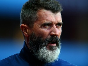 Roy Keane, Aston Villa assistant manager looks on before the Barclays Premier League match between Aston Villa and Manchester City at Villa Park on October 4, 2014