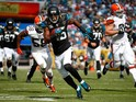 Allen Robinson #15 of the Jacksonville Jaguars runs for a touchdown during the game against the Cleveland Browns at EverBank Field on October 19, 2014