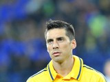 Jose Ernesto Sosa of FC Metalist Kharkiv in action during the UEFA Europa League group stage match between FC Metalist Kharkiv and SK Rapid Wien held on October 4, 2012