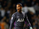 Michel Vorm of Tottenham Hotspur looks on during the Capital One Cup third round match between Tottenham Hotspur and Nottingham Forest at White Hart Lane on September 24, 2014
