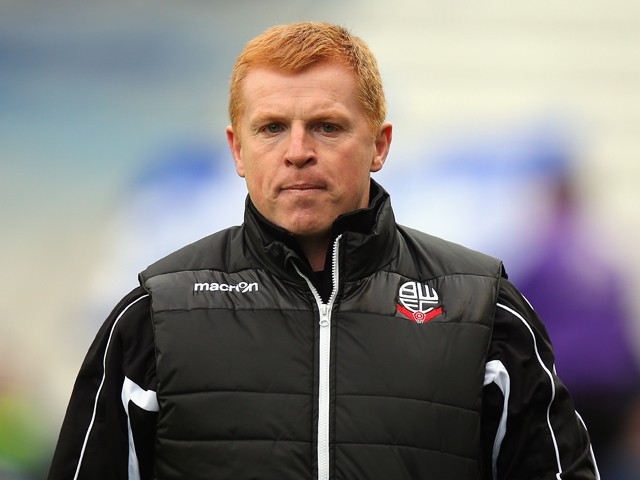 Bolton Wanderers Manager Neil Lennon walks onto the pitch at the start of the Sky Bet Championship match between Birmingham City and Bolton Wanderers at St Andrews (stadium) on October 18, 2014