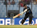 New Zealand batsman Kane Williamson plays a shot during the ICC World Twenty20 tournament cricket match between South Africa and New Zealand at The Zahur Ahmed Chowdhury Stadium in Chittagong on March 24, 2014