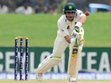 Pakistan cricket team captain Misbah-ul-Haq plays a shot during the first day of the opening Test match between Sri Lanka and Pakistan at the Galle International Cricket Stadium in Galle on August 6, 2014