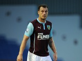 Ashley Barnes of Burnley in action during the pre season friendly match between Burnley and Celta Vigo at Turf Moor on August 05, 2014