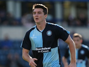 Peter Murphy of Wycombe Wanderers in action during the Sky Bet League Two match between Wycombe Wanderers and Northampton Town at Adams Park on October 4, 2014