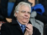 Everton Chairman Bill Kenwright looks on prior to the Barclays Premier League match between Everton and Cardiff City at Goodison Park on March 15, 2014