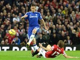 Nemanja Matic takes the ball from Daley Blind as Chelsea take on Manchester United on October 26, 2014