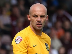 David Hunt of Oxford United in action during the Sky Bet League Two match between Northampton Town and Oxford United at Sixfields Stadium on May 3, 2014