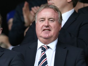 Rangers chairman David Somers during the Scottish Championship Opening League Match between Rangers and Hearts, at Ibrox Stadium on August 10, 2014