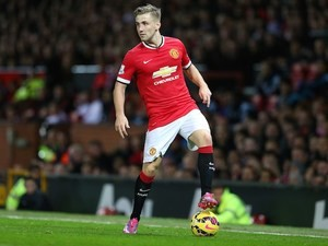 Luke Shaw in action for Manchester United against Chelsea on October 26, 2014