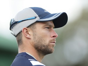 Victoria captain Matthew Wade looks on during the Matador BBQs Cup match between Queensland and Victoria at North Sydney Oval on October 14, 2014