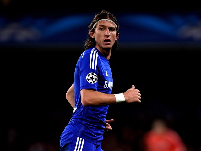 Filipe Luis of Chelsea in action during the UEFA Champions League Group G match between Chelsea FC and NK Maribor at Stamford Bridge on October 21, 2014