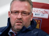Aston Villa's Scottish manager Paul Lambert looks on ahead of the English Premier League football match between West Ham United and Aston Villa at the Boleyn Ground, Upton Park, in east London on November 8, 2014