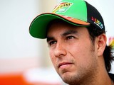 Sergio Perez of Mexico and Force India speaks with members of the media during previews ahead of the Brazilian Formula One Grand Prix on November 8, 2014