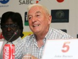 Roy Evans during the Liverpool FC Legends Tour Pre-match press conference at Moses Mabhida Stadium on November 14, 2013