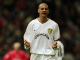 Rio Ferdinand of Leeds United fires himself up during the FA Carling Premiership match against Liverpool played at Anfield on April 13, 2001