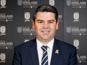 In this handout image provided by The FA, Adrian Bevington, Managing Director of Club England poses during the FA England Awards on February 3, 2013