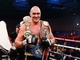 Tyson Fury of England celebrates d