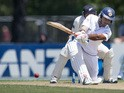 Sri Lanka's Dimuth Karunaratne bats during day three of the first International Test cricket match between New Zealand and Sri Lanka at Hagley Park Oval in Christchurch on December 28, 2014