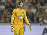 Craig Gordon of Celtic in action during the UEFA Europa League Group D match between FC Salzburg and Celtic FC on September 18, 2014