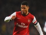 Serge Gnabry in action for Arsenal on January 24, 2014