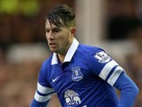 Bryan Oviedo in action for Everton on Janua