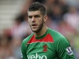 Fraser Forster in action for Southampton on October 18, 2014