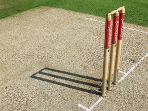 A general view of the wicket during day one of the Third Test match between England and India at the Oval on August 9, 2007