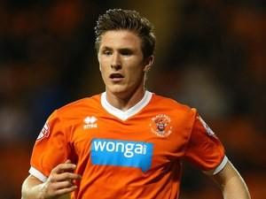 John Lundstram in action for Blackpool on October 3, 2014