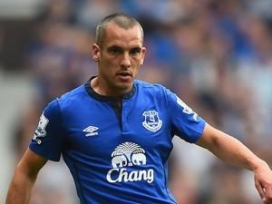 Leon Osman in action for Everton on September 13, 2014