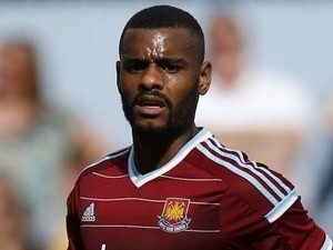 Ricardo Vaz Te in action for West Ham on August 9, 2014