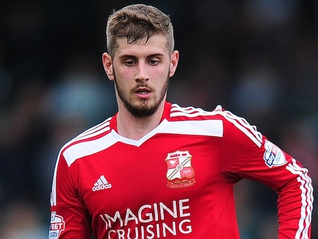 Jack Stephens in action for Swindon Town on October 18, 2014