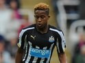 Rolando Aarons in action for Newcastle on November 1, 2014