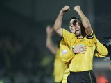 Darren Stride of Burton celebrates at the end of the FA Cup Third Round match between Burton Albion and Manchester United on January 8, 2006