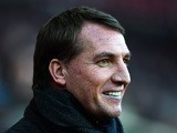 Brendan Rodgers, manager of Liverpool smiles before the Barclays Prem