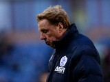 Harry Redknapp, manager of QPR looks on during the Barclays Premier League match between Burnley and Queens Park Rangers at Turf Moor on January 10, 2015