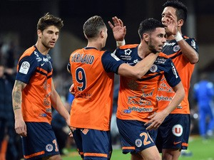 21.11.2012 London, England. Montpellier Hsc Team Before Kick Off ...