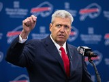 Rex Ryan speaks at a press conference announcing his arrival as head coach of the Buffalo Bills on January 14, 2015