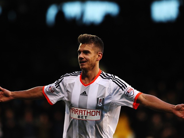Alexander Kacaniklic of Fulham celebrates scoring during the Sky Bet Championship match between Fulham and Reading at Craven Cottage on January 17, 2015