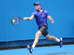 Great Britain's Kyle Edmund on day two of the Australian Open on January 20, 2015